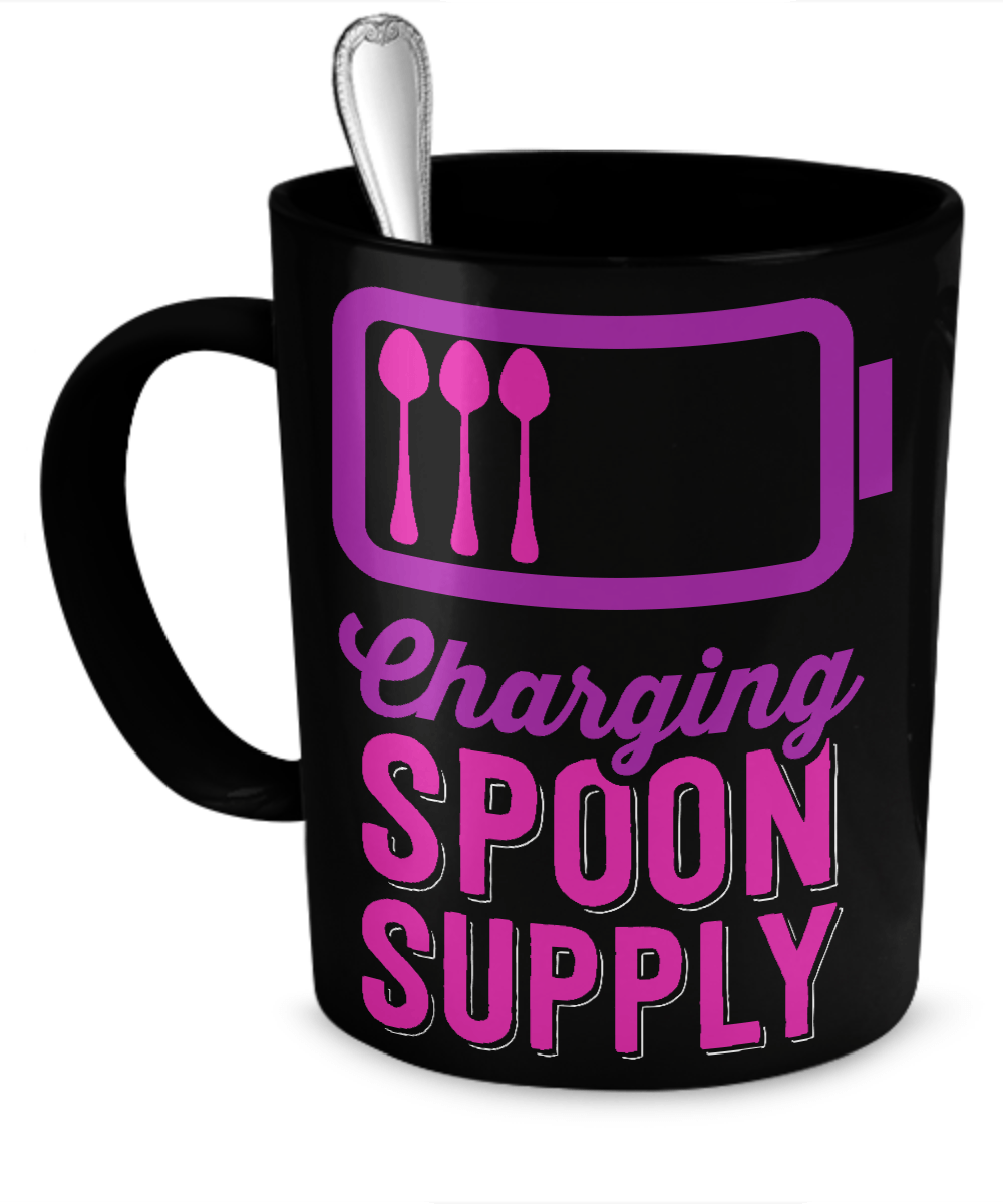 Charging Spoon Supply Pink Mug - The Unchargeables