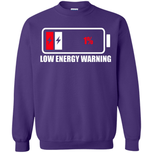 Low Energy Warning Crewneck Sweatshirt - The Unchargeables