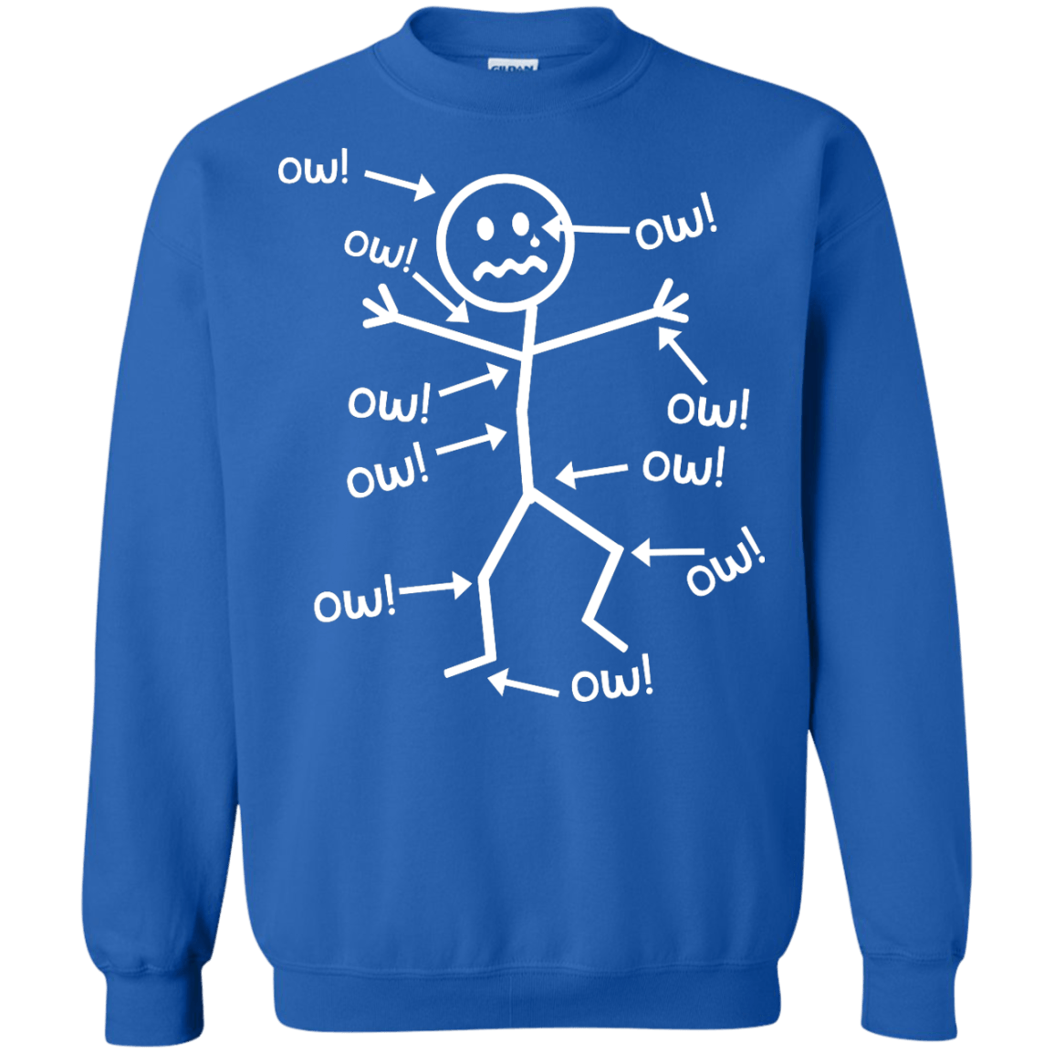 Ow Ow Ow Crewneck Sweatshirt - The Unchargeables