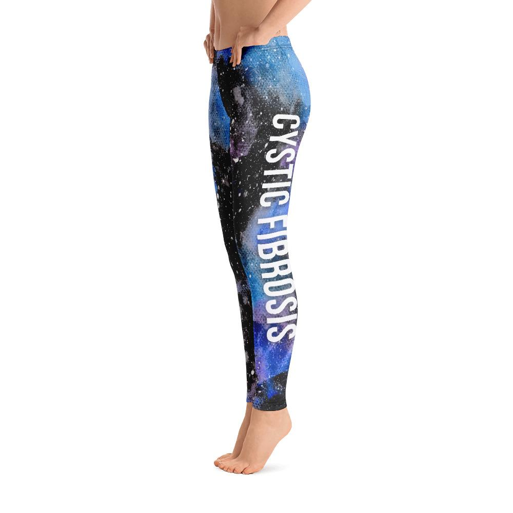 Cystic Fibrosis Black Galaxy Leggings
