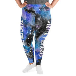 Cystic Fibrosis NFTW Black Galaxy Plus Size Leggings