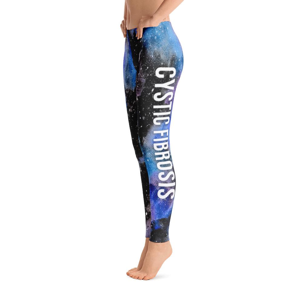 Cystic Fibrosis Warrior NFTW Black Galaxy Leggings