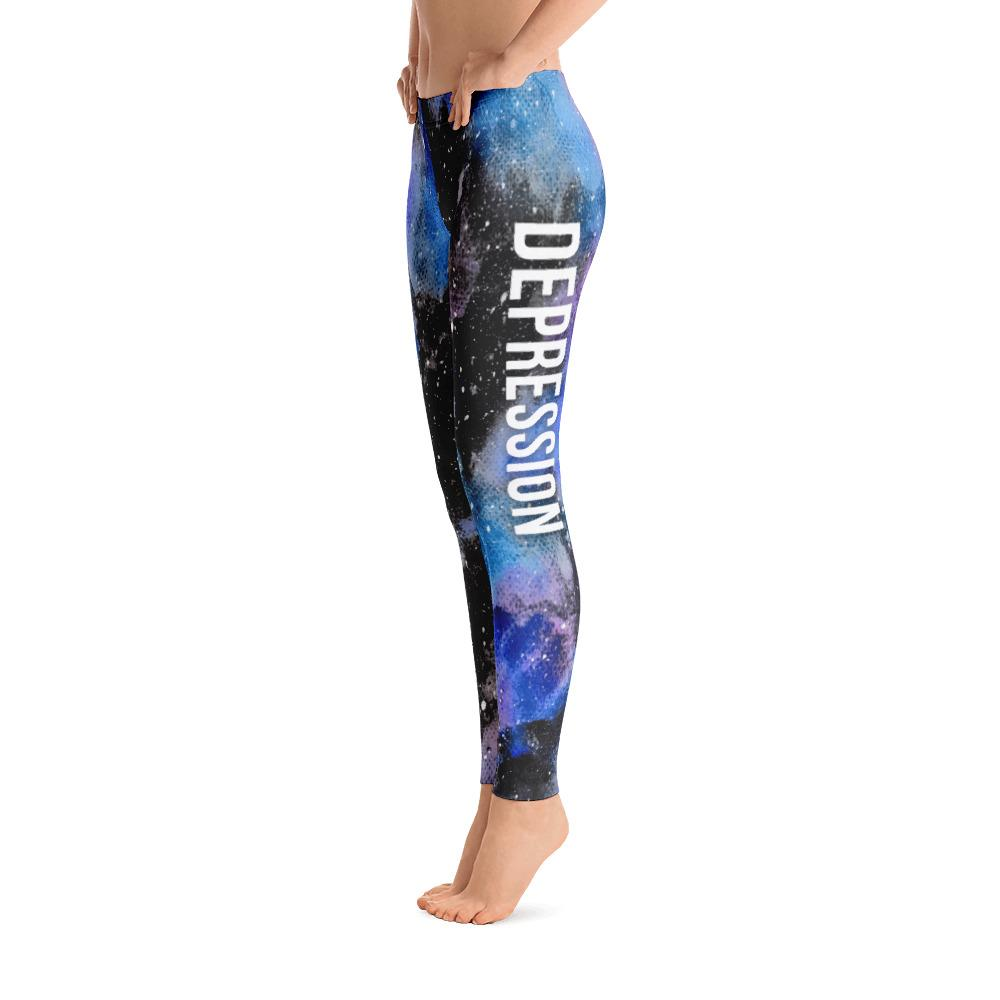 Depression Warrior NFTW Black Galaxy Leggings - The Unchargeables