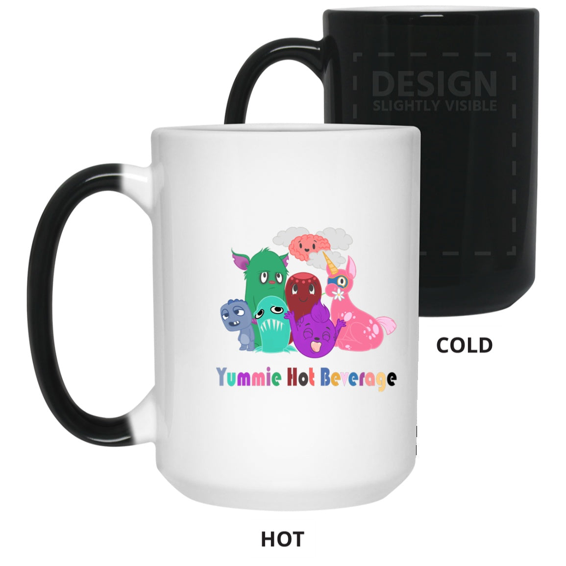 Yummie Hot Beverage Chargimals 15 oz. Color Changing Mug