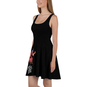 Fibro Strong Dragon Black Skater Dress