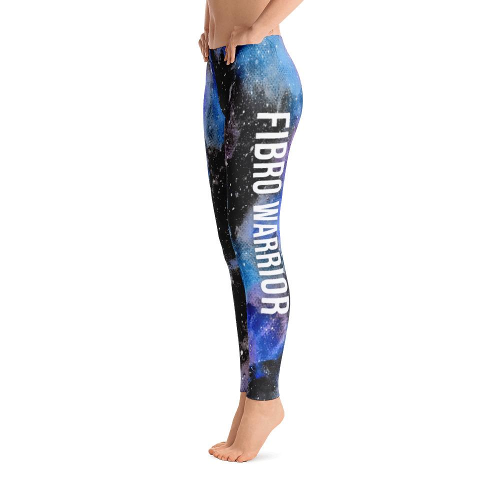 Fibromyalgia - Fibro Warrior Black Galaxy Leggings