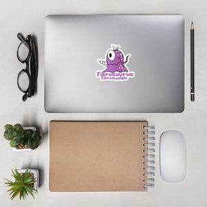 Fibrosaurus the Fibromyalgia Monster Sticker - The Unchargeables