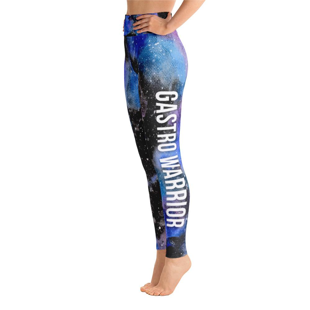 Gastroparesis - Gastro Warrior NFTW Black Galaxy Yoga Leggings With High Waist and Coin Pocket - The Unchargeables