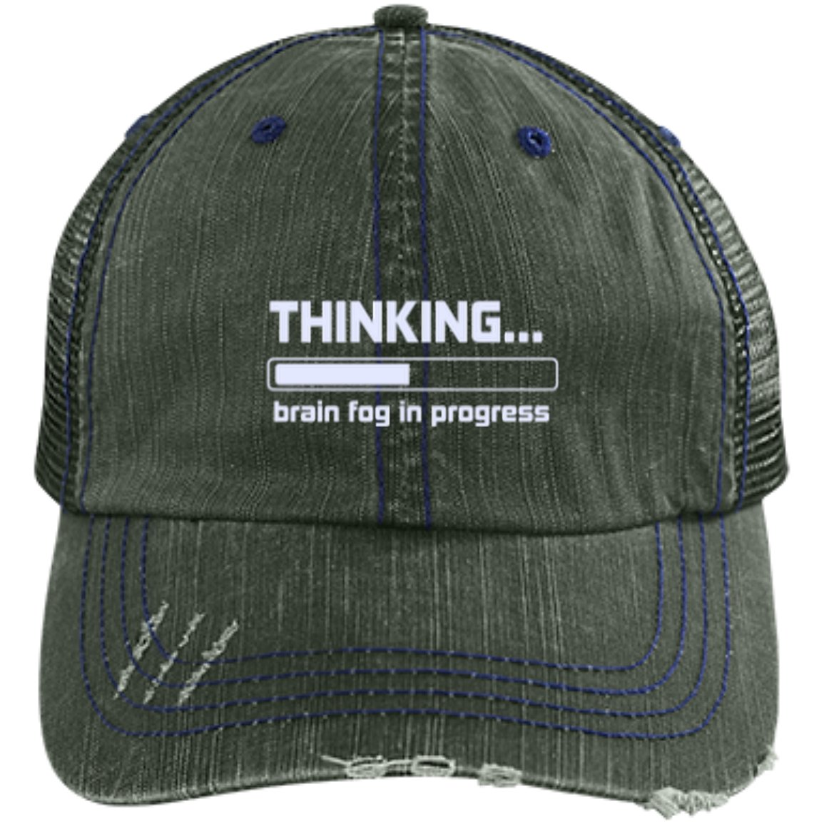 Brain Fog in Progress Trucker Cap - The Unchargeables