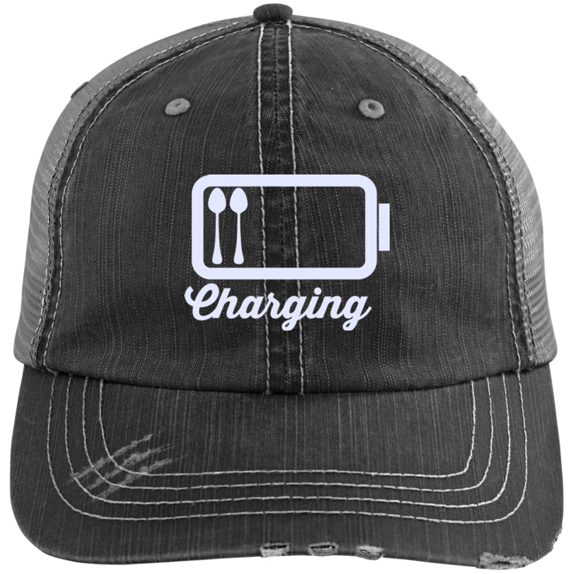 Charging White Trucker Cap - The Unchargeables