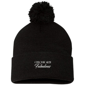 Chronically Fabulous Pom Pom Knit Cap