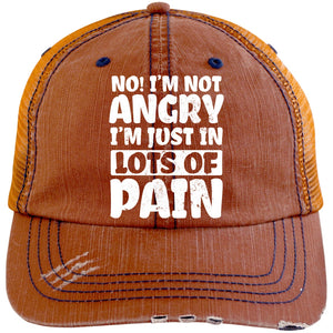 I'm Not Angry Trucker Cap