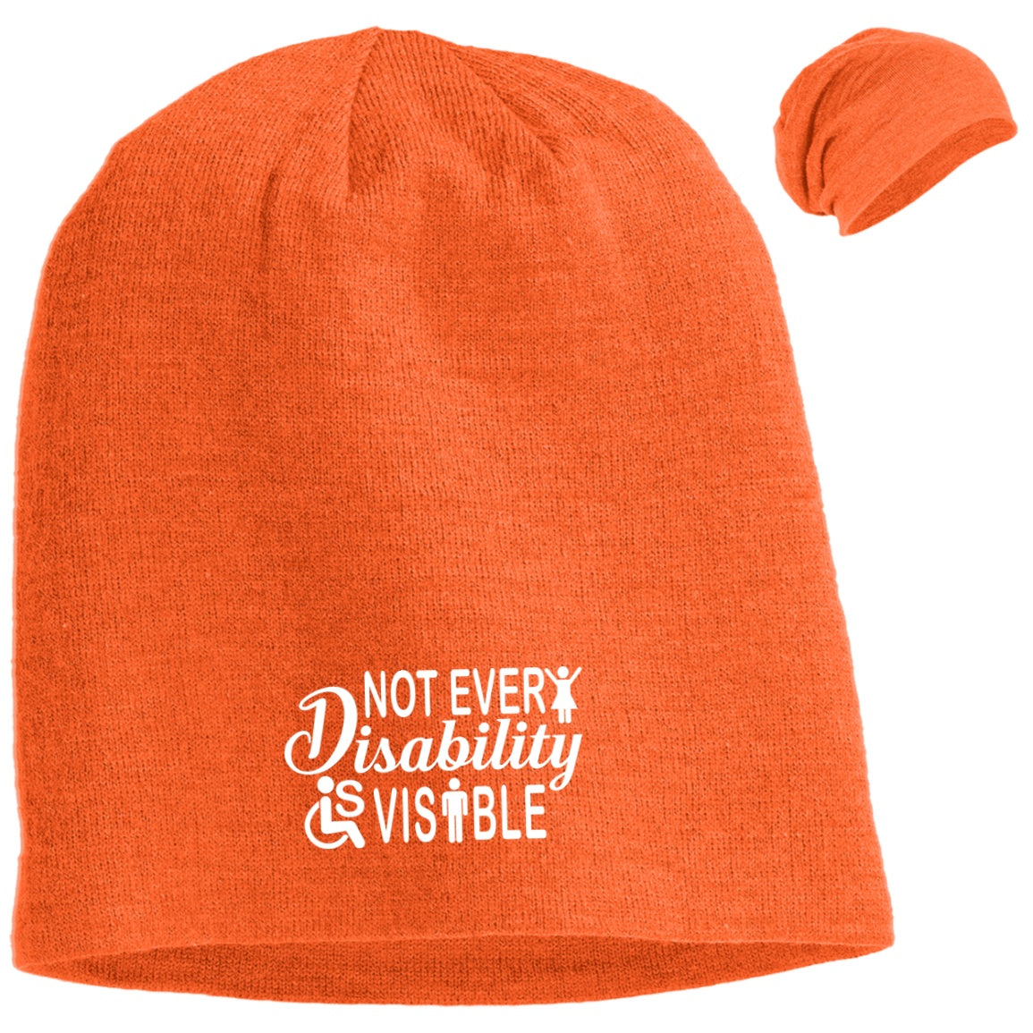 Invisible Disability With Icons Slouch Beanie - The Unchargeables