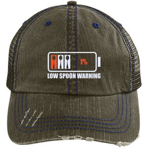 Low Spoon Warning Trucker Cap - The Unchargeables