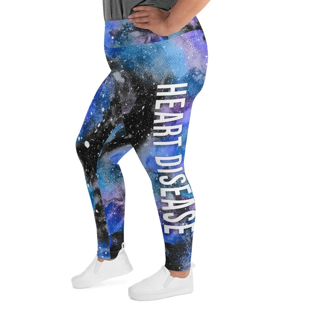 Heart Disease NFTW Black Galaxy Plus Size Leggings - The Unchargeables