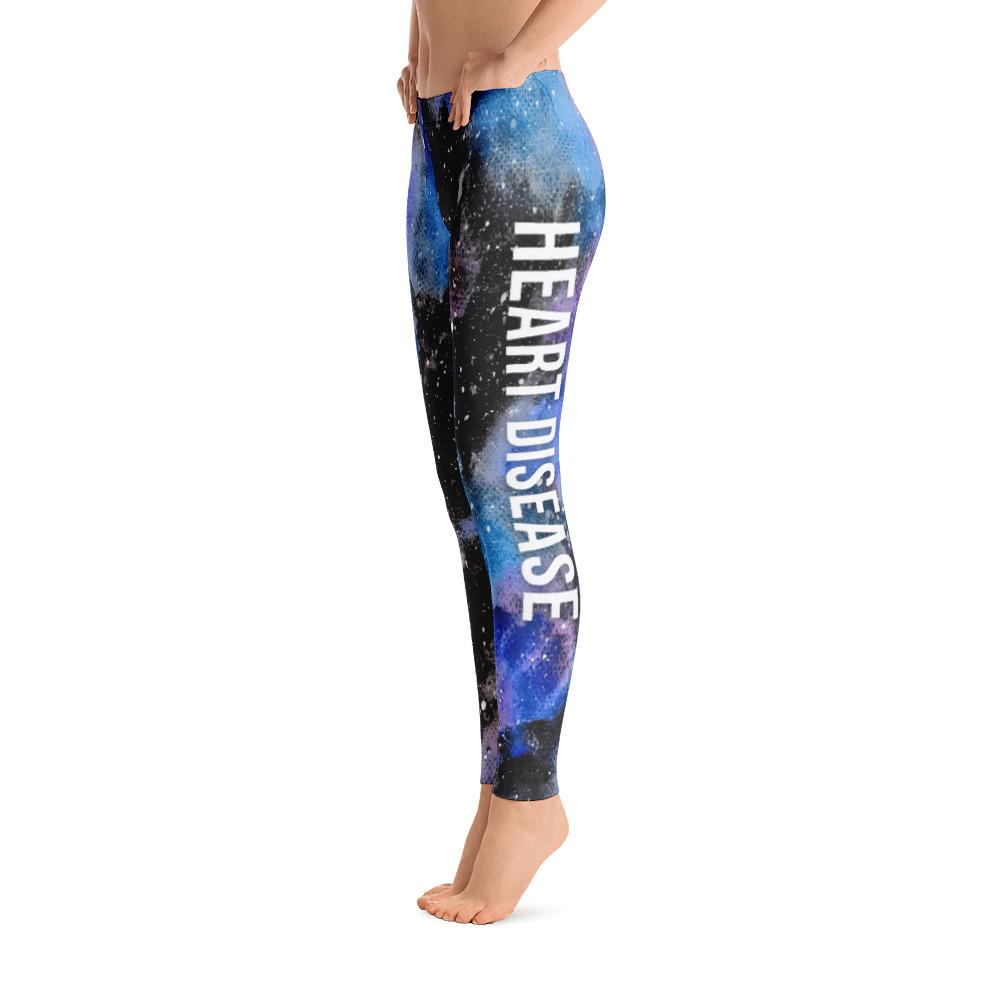 Heart Disease Warrior NFTW Black Galaxy Leggings - The Unchargeables