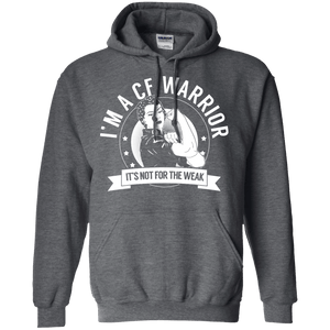 Cystic Fibrosis - CF Warrior Not For The Weak Pullover Hoodie 8 oz - The Unchargeables