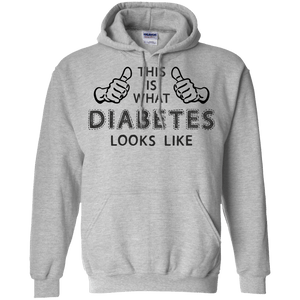 Hoodies - Diabetes Looks Like Pullover Hoodie 8 Oz