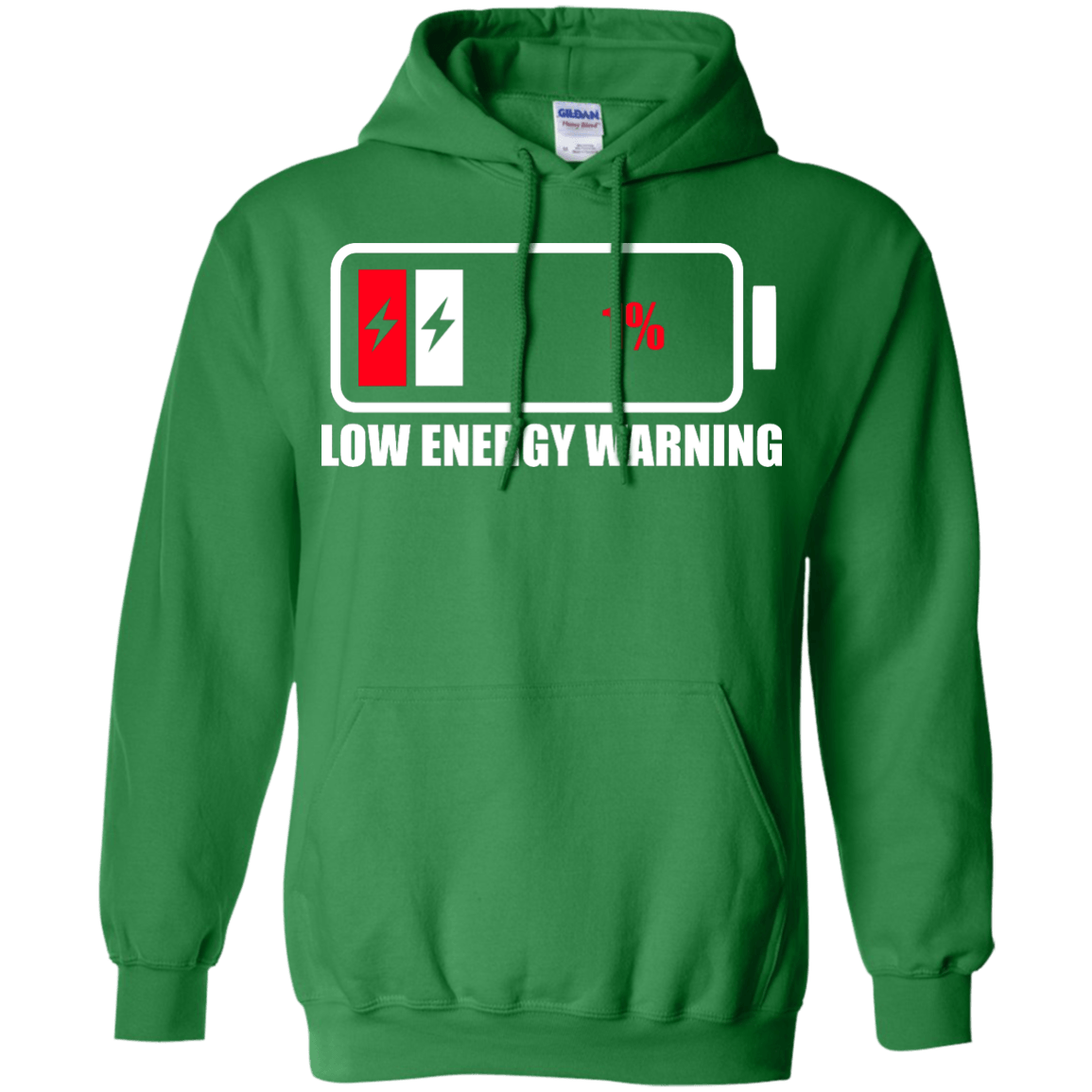 Low Energy Warning Pullover Hoodie 8 oz - The Unchargeables