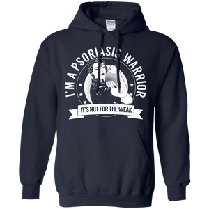 Psoriasis Warrior Not For The Weak Pullover Hoodie 8 oz - The Unchargeables