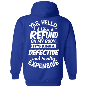 Refund on Body Pullover Hoodie 8 oz - The Unchargeables