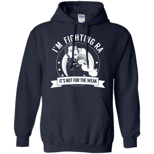 Hoodies - Rheumatoid Arthritis - Fighting RA Not For The Weak Pullover Hoodie 8 Oz