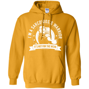 Sarcoidosis Warrior Not For The Weak Pullover Hoodie 8 oz - The Unchargeables