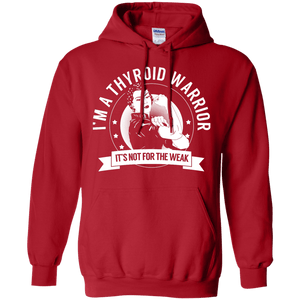 Hoodies - Thyroid Disease - Thyroid Warrior Not For The Weak Pullover Hoodie 8 Oz