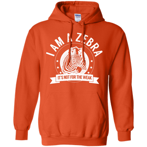 Zebra Warrior Not for the Weak Pullover Hoodie 8 oz - The Unchargeables