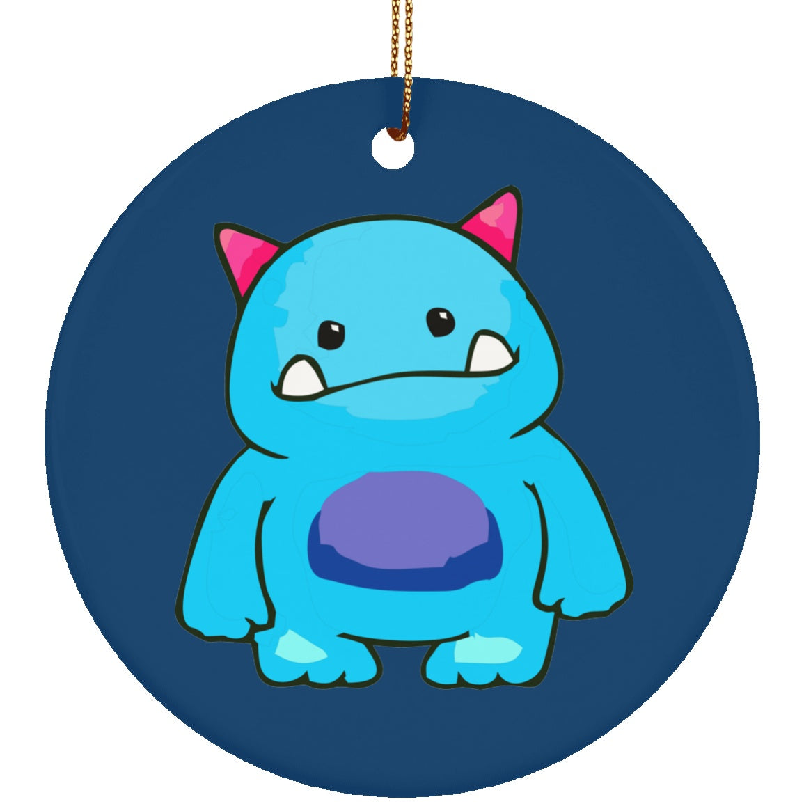 Addison's Disease Monster Circle Ornament - The Unchargeables