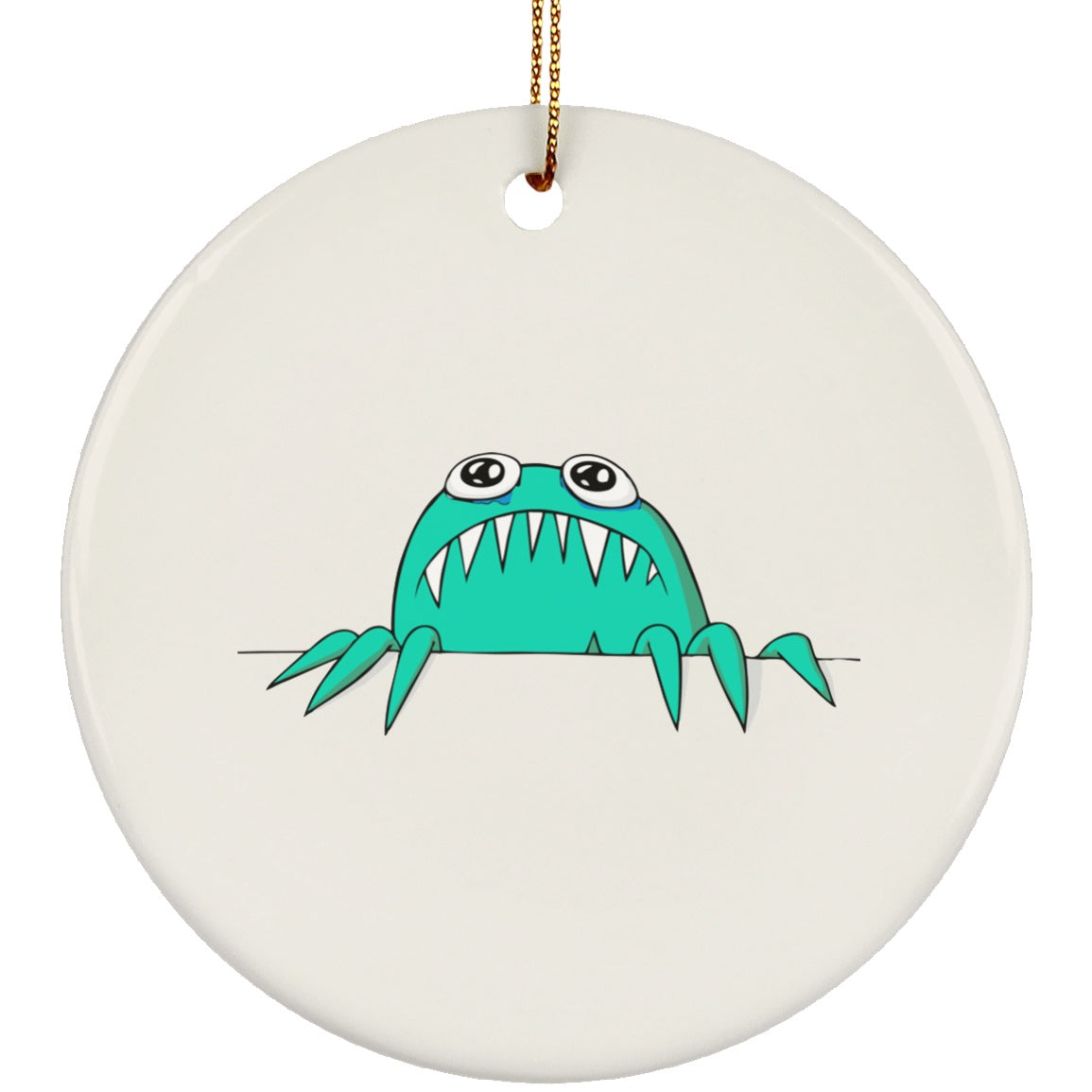 Anxiety Monster Circle Ornament - The Unchargeables