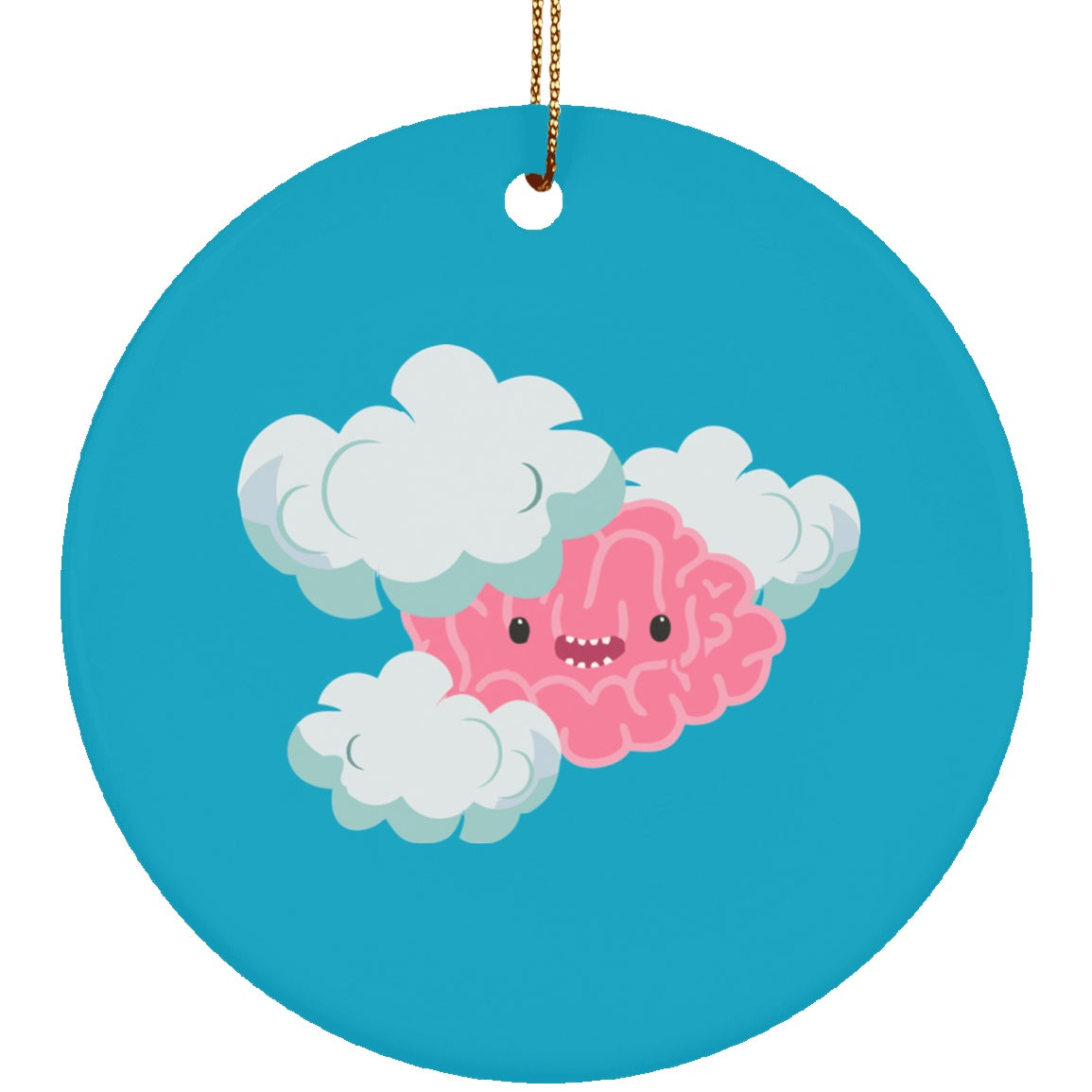 Housewares - Brain Fog Monster Ceramic Circle Ornament