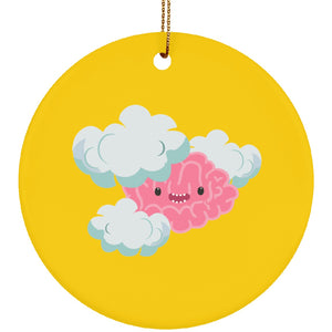 Brain Fog Monster Ceramic Circle Ornament - The Unchargeables