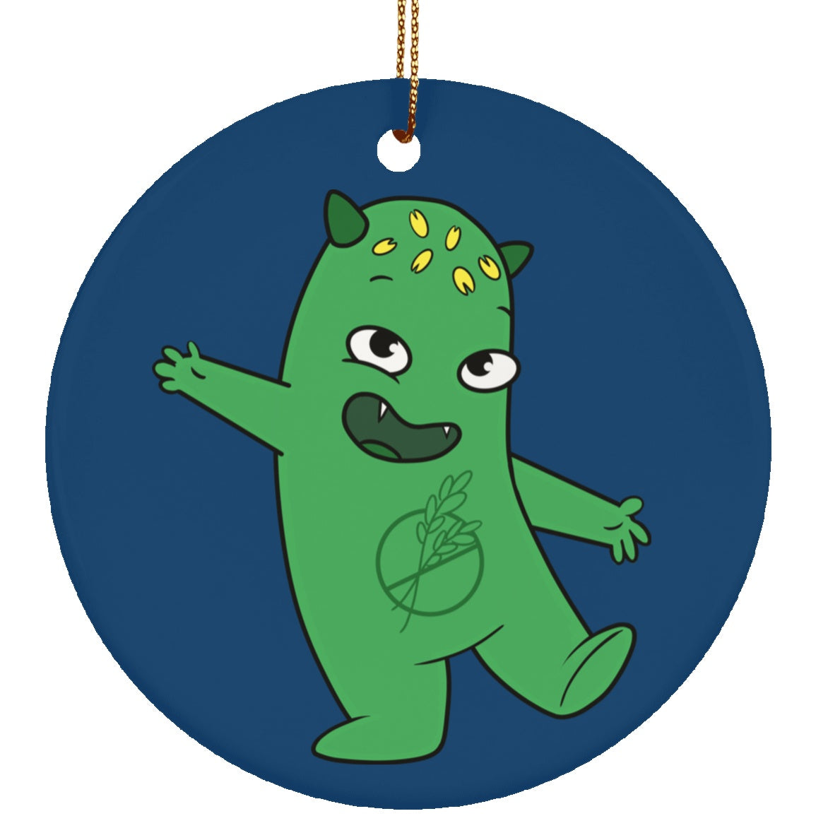 Celiac Disease Monster  Circle Ornament