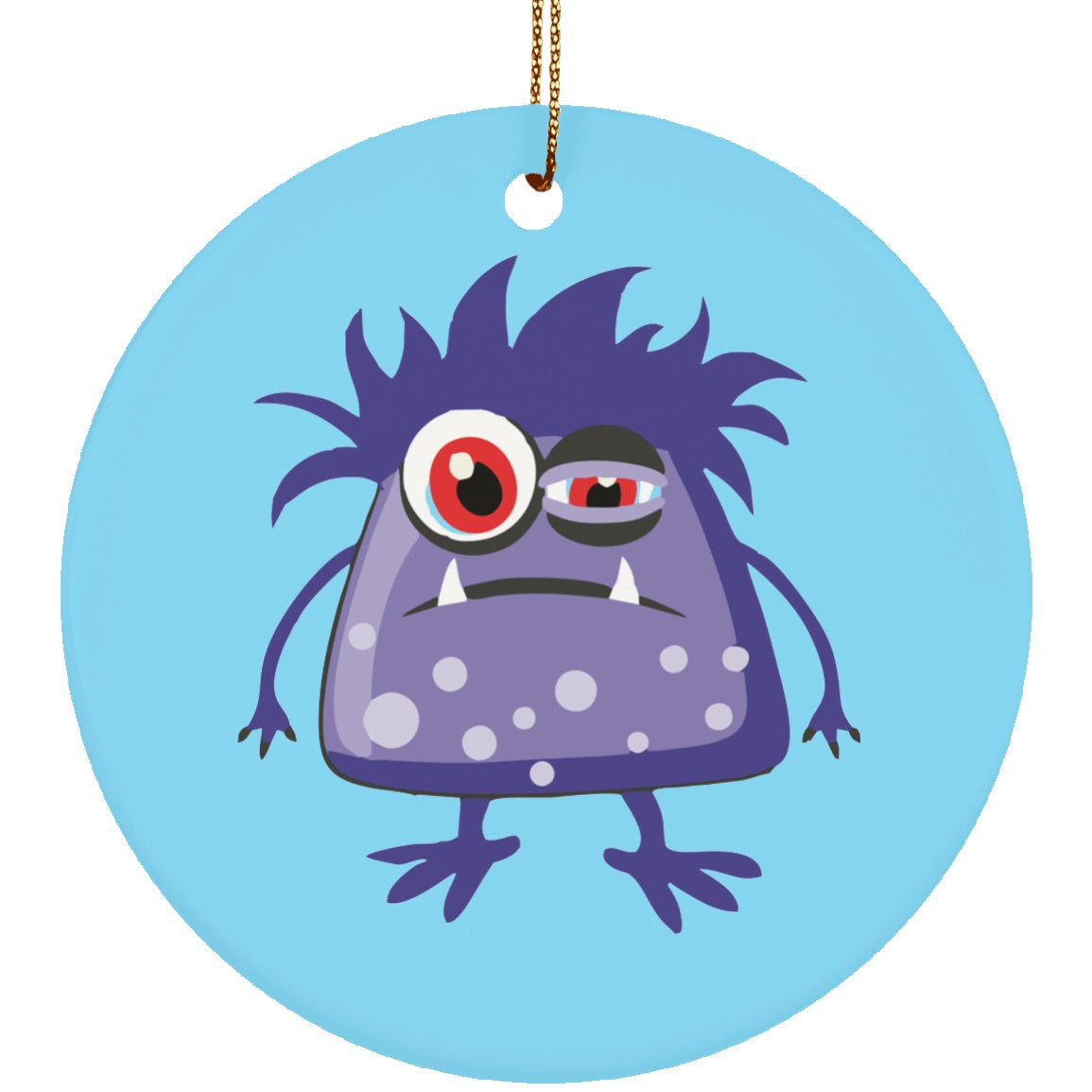 Housewares - Chronic Fatigue Syndrome Monster Ceramic Circle Ornament
