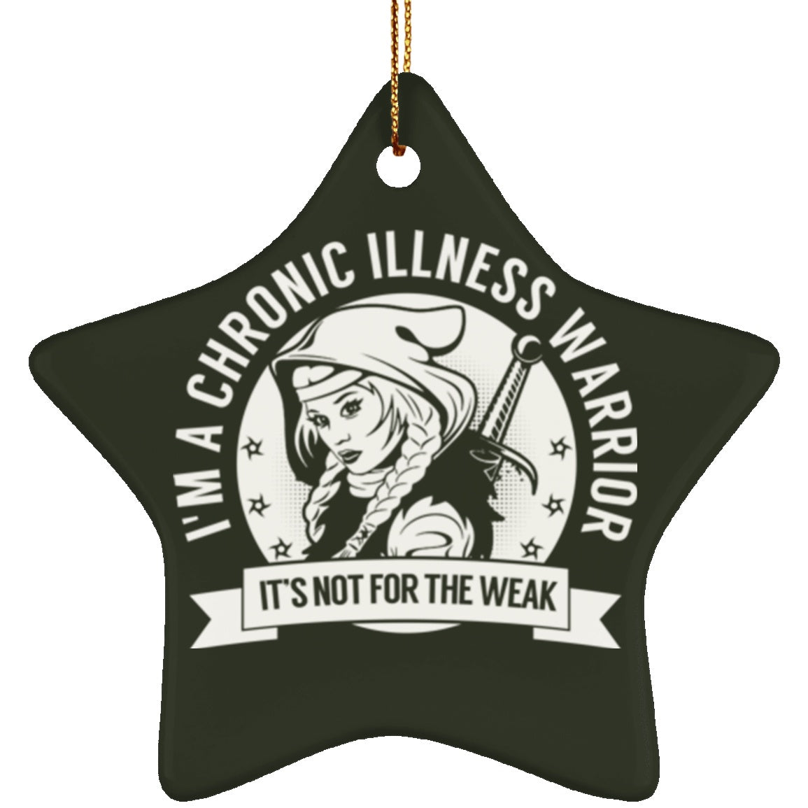 Chronic Illness Warrior Hooded Star Ornament - The Unchargeables