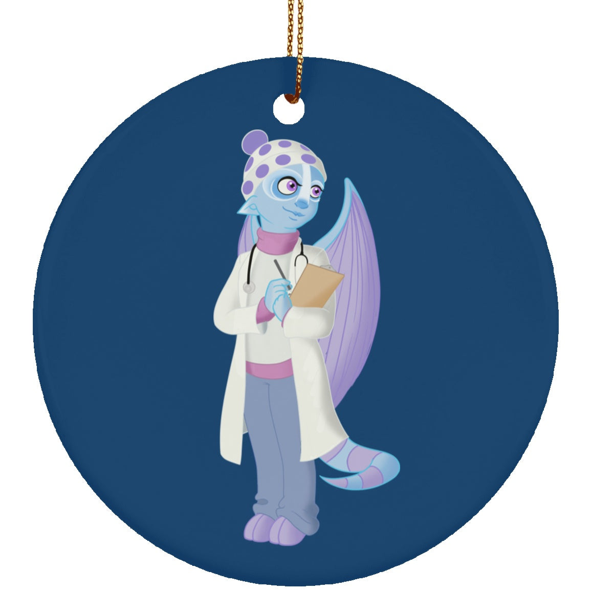 Cold Urticaria Monster Circle Ornament - The Unchargeables