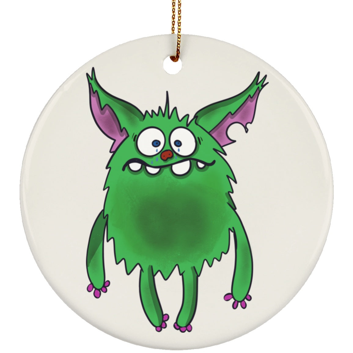Depression Monster Ceramic Circle Ornament