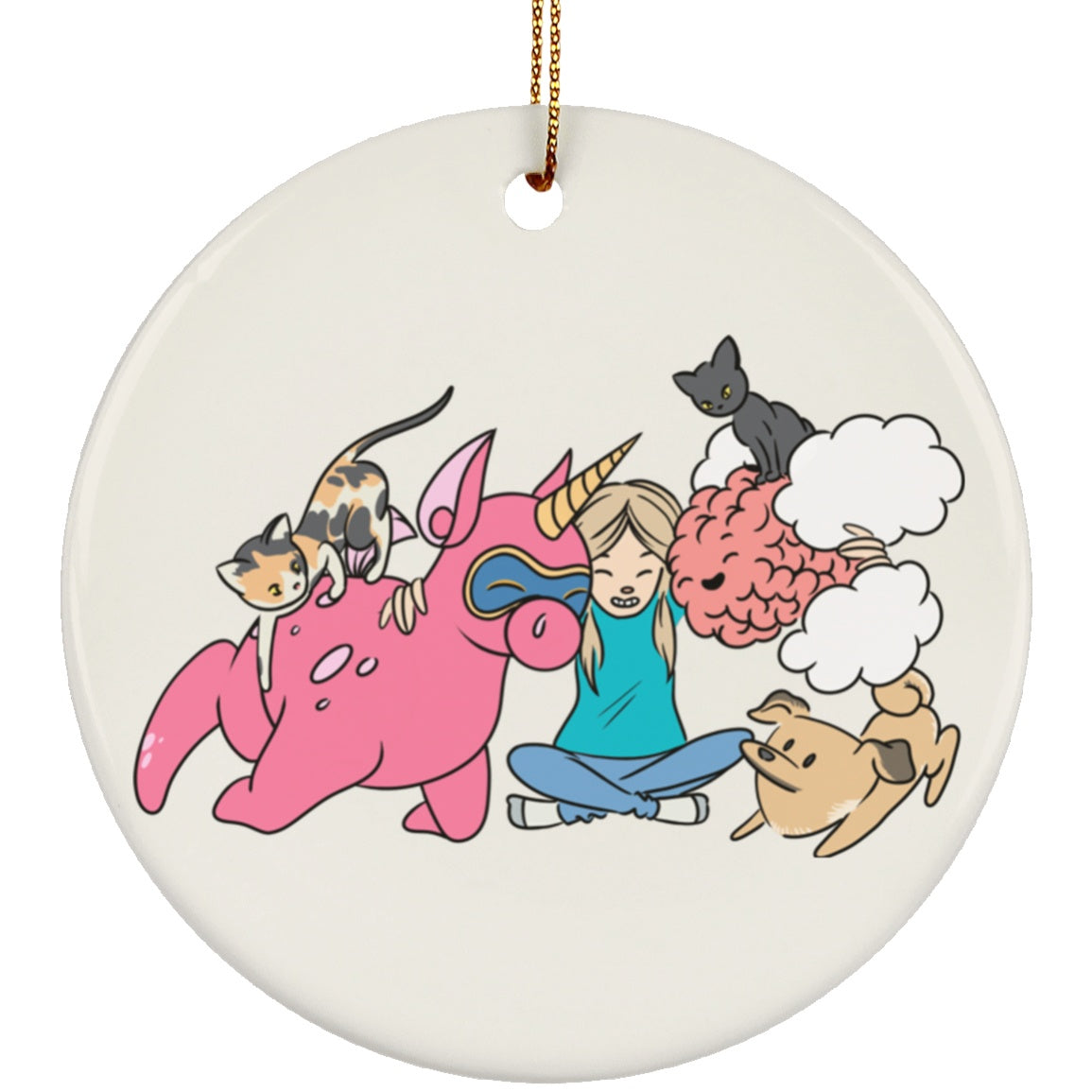 Emmeline and Chargimals Circle Ornament - The Unchargeables