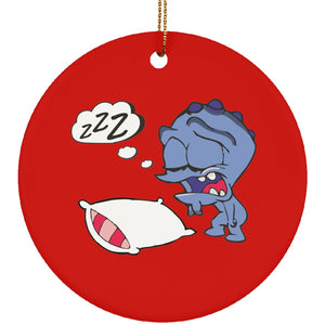 Housewares - Fatigue Monster Ceramic Circle Ornament