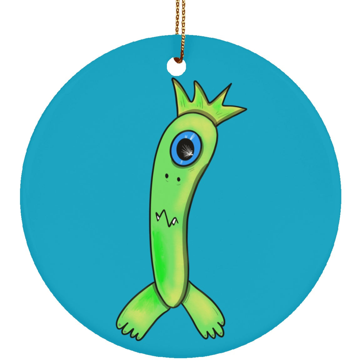 Gastroparesis Monster Ceramic Circle Ornament