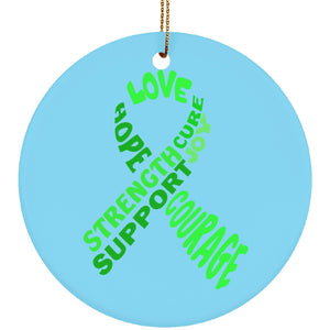 Green Text Ribbon Circle Ornament - The Unchargeables