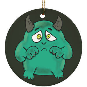 IC Monster Ceramic Circle Ornament