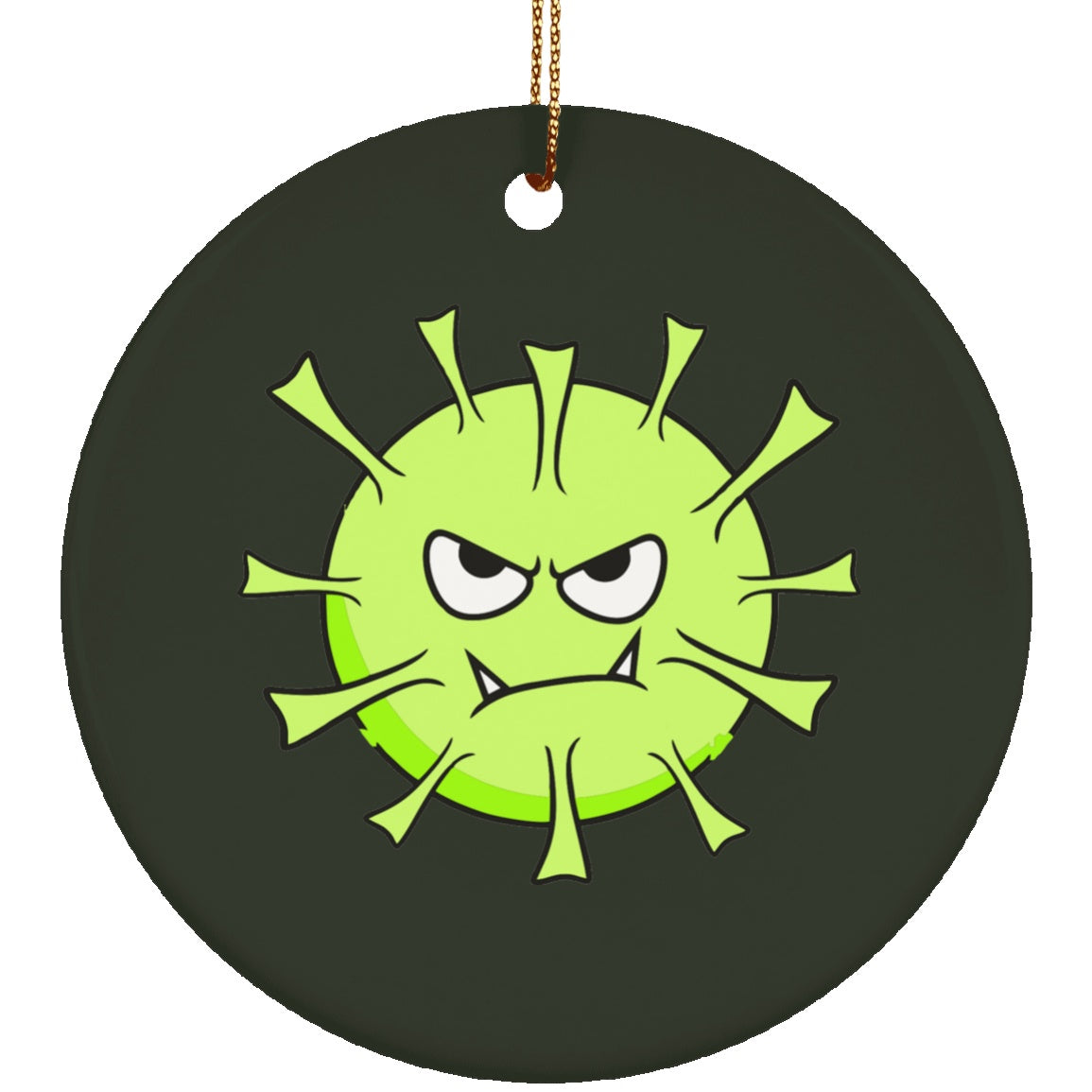 Lyme Disease Monster Circle Ornament - The Unchargeables