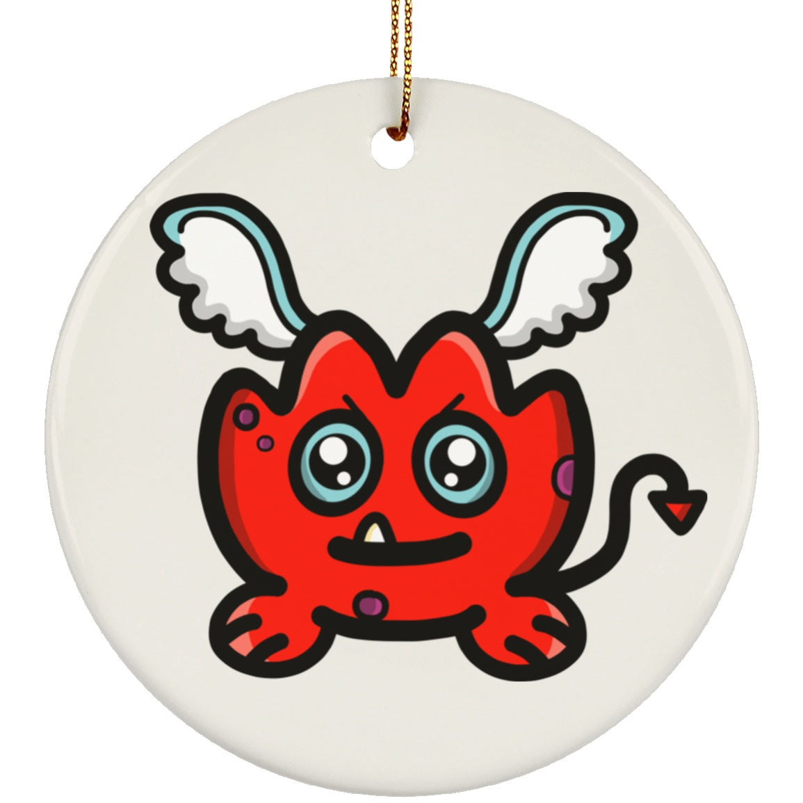 Rara the Cheeky Demon of Anger Circle Ornament - The Unchargeables