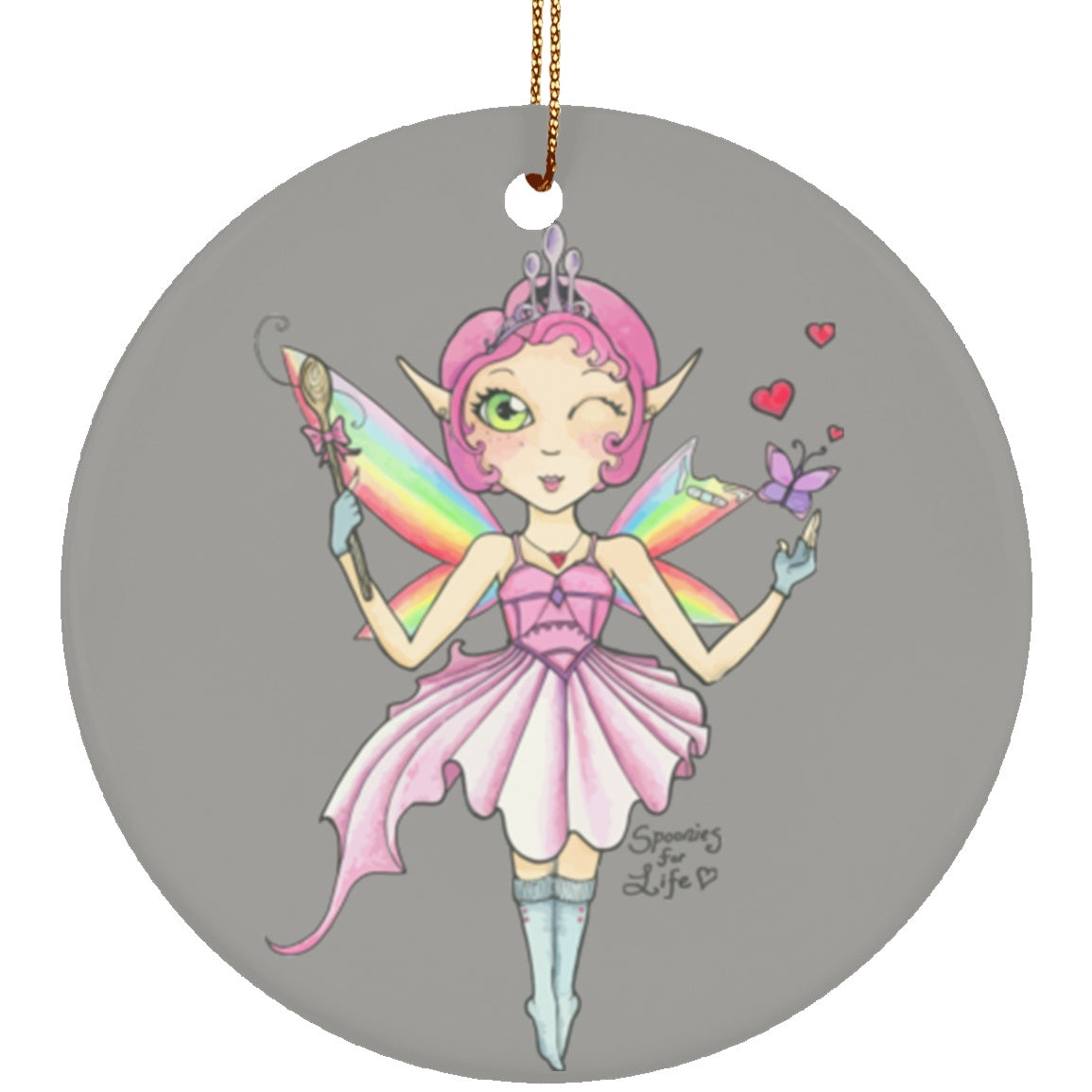 Spoon Fairy Circle Ornament - The Unchargeables