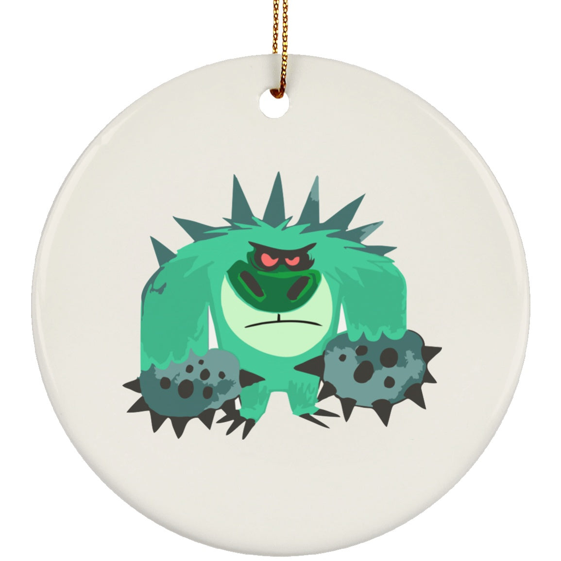 Trigeminal Neuralgia Monster Circle Ornament - The Unchargeables