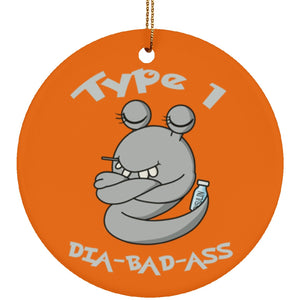 Type 1 dia-bad-ass Beets Circle Ornament - The Unchargeables