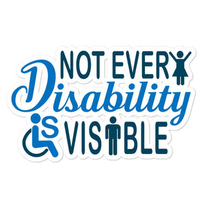 Invisible Disability With Icons Sticker - The Unchargeables