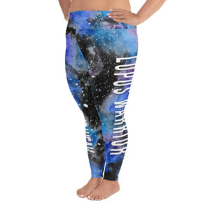 Lupus Warrior NFTW Black Galaxy Plus Size Leggings